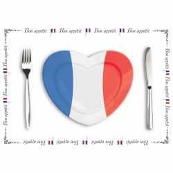 Papieren placemats Frankrijk 10 stuks