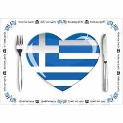 Papieren placemats Griekenland 10 stuks