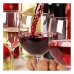 Papieren servetten rode wijn 20 stuks