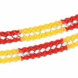 Papieren slinger rood/geel 4 meter