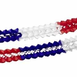 Papieren slinger rood/wit/blauw