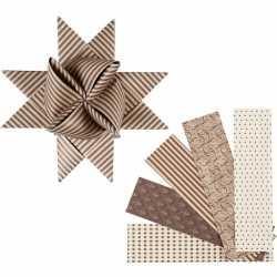 Papieren stroken bruin/beige 40 stuks