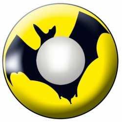 Party lenzen geel vleermuis