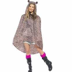 Party regenponcho luipaard