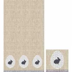 Pasen tafeldecoratie set konijn tafelkleed/servetten