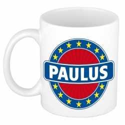 Paulus naam koffie mok / beker 300 ml