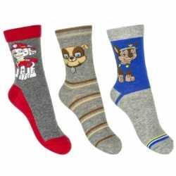 Paw patrol jongens sokken 3 pak grijs