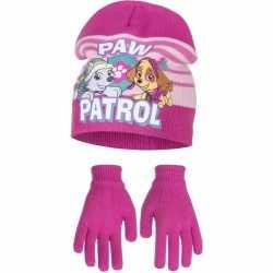 Paw patrol muts handschoenen fuchsia meisjes