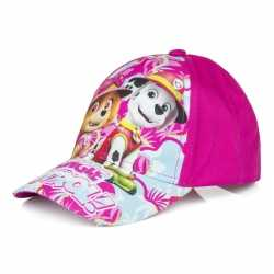 Paw patrol pet/cap fuchsia roze kinderen