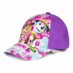 Paw patrol pet/cap paars kinderen