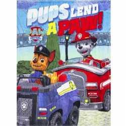 Paw patrol pups fleece deken jongens