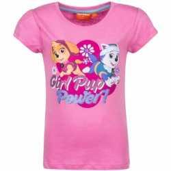 Paw patrol shirt lichtroze meisjes