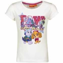 Paw patrol shirt wit meisjes
