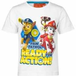 Paw Patrol t-shirt wit kinderen