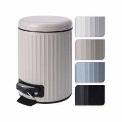 Pedaalemmer/vuilnisbak 3 liter zwart kleur
