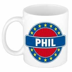 Phil naam koffie mok / beker 300 ml