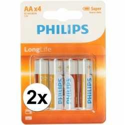Philips 8 stuks aa batterijen