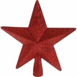 Piek ster rood glitters 19