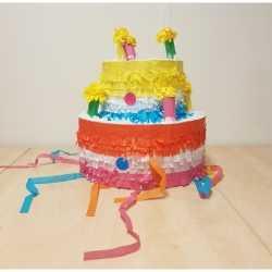 Pinata gekleurde verjaardagstaart 31