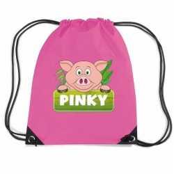 Pinky the pig varkens rugtas / gymtas roze kinderen