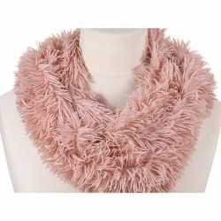 Pluche col sjaal roze 80 volwassenen