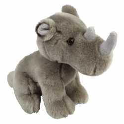 Pluche grijze neushoorn knuffel 18 speelgoed