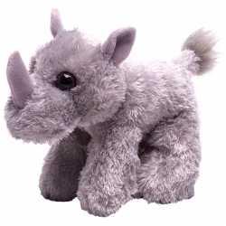 Pluche knuffel neushoorn grijs 18