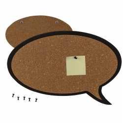 Prikbord in de vorm van een tekst wolkje 44 bij 29
