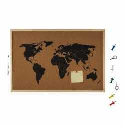 Prikbord wereldkaart 40 bij 60
