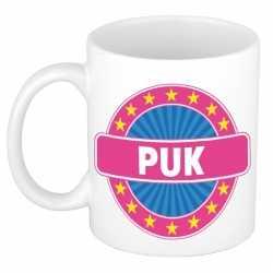 Puk naam koffie mok / beker 300 ml