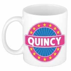 Quincy naam koffie mok / beker 300 ml