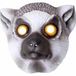 Ringstaart maki verkleed apen dierenmasker kinderen