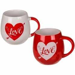 Rode beker wit hart love