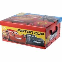 Rode opbergbox/opbergdoos disney cars 37