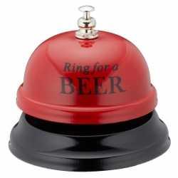 Rode tafelbel ring for a beer 7,5