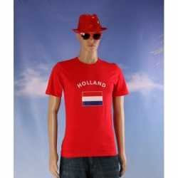 Rood heren t-shirt Holland