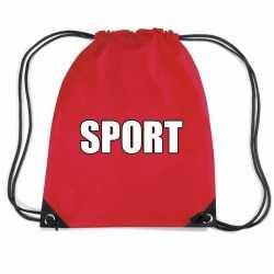 Rood sport rugtasje/ gymtasje kinderen