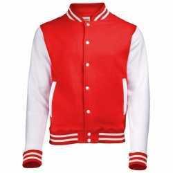 Rood wit college jacket dames