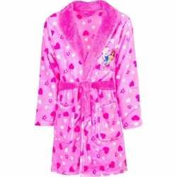 Roze princess badjas capuchon meisjes