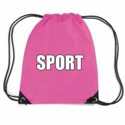 Roze sport rugtasje/ gymtasje kinderen