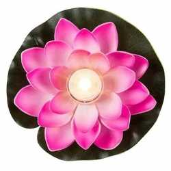 Roze waterlelie led licht 13