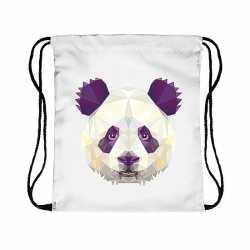 Rugtas rijgkoord panda print