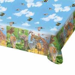 Safari/jungle themafeest tafelkleed 130 bij 180