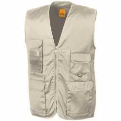Safari/jungle verkleed bodywarmer/vest beige volwassenen