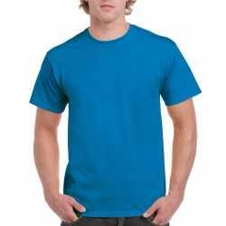 Saffierblauw katoenen shirt volwassenen