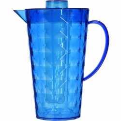 Schenkkan koelelement van helder blauw plastic