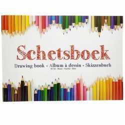 Schetsboek/tekenboek a4 formaat 80 vellen