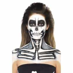 Schmink set skelet zwart wit