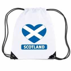 Schotland hart vlag nylon rugzak wit