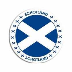 Schotland sticker rond 14,8